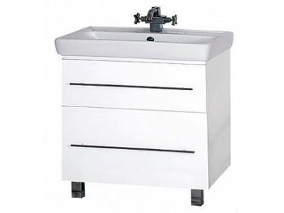 Мебель для ванной Misty Елена -80 Тумба с 2 ящ. направл. с доводчиком П-Еле01080-012Я