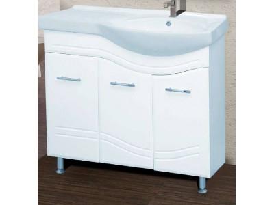 Мебель для ванной Misty Флори  90 Тумба с Б/К левая Э-Флр01090-011БкП