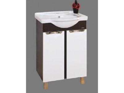 Мебель для ванной Misty Франко - 55 Тумба прямая Венге/белый П-Фра01055-252Пр