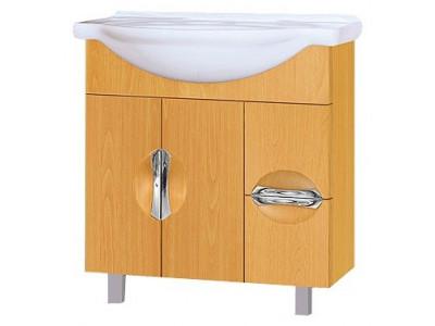Мебель для ванной Misty Глория - 75  Тумба с 2 ящ. БУК П-Гло01075-182Я