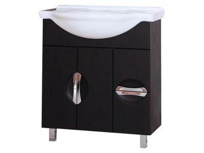 Мебель для ванной Misty Глория - 75  Тумба с 2 ящ. ВЕНГЕ П-Гло01075-032Я