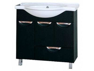 Мебель для ванной Misty Глория - 86  Тумба с 1 ящ.+ Б/К  БУК П-Гло01086-181Я