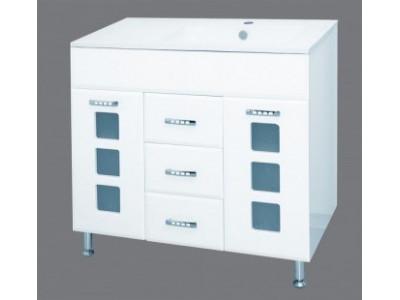 Мебель для ванной Misty Квадро - 90 Тумба белая П-Ква01090-011