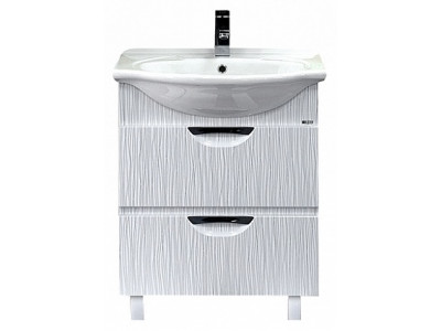 Мебель для ванной Misty Лорд - 65 Тумба 2 ящ  (белая пленка) П-Лрд01065-0122Я