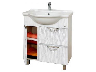 Мебель для ванной Misty Лорд - 75 Тумба (белая пленка) П-Лрд01075-012