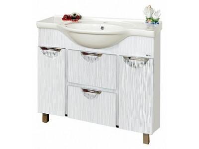 Мебель для ванной Misty Лорд - 85 Тумба (белая пленка) П-Лрд01085-012