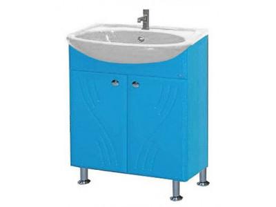 Мебель для ванной Misty Мисти-60 Тумба  (голубая) Э-Мис01060-06