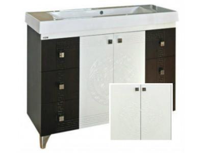 Мебель для ванной Misty Олимпия -105 Тумба с 6 ящ. белая фактурная П-Оли01105-0126Я