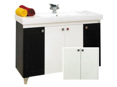 Мебель для ванной Misty Олимпия -120 Тумба прямая белая фактурная П-Оли01120-012Пр