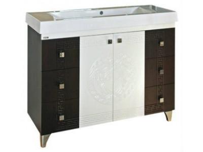 Мебель для ванной Misty Олимпия -120 Тумба с 6 ящ. комб.венге/белый П-Оли01120-2526Я