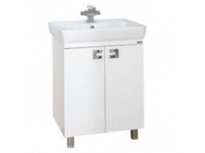 Мебель для ванной Misty Олимпия - 60 Тумба прямая белая фактурная П-Оли01060-012Пр