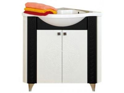 Мебель для ванной Misty Олимпия - 60 Тумба угловая комб.белый/венге П-Оли01060-252Уг