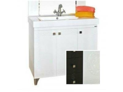 Мебель для ванной Misty Олимпия - 75 Тумба прямая комб.венге/белый П-Оли01075-252Пр
