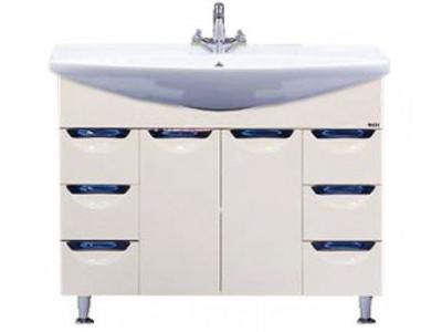 Мебель для ванной Misty Орхидея- 105 Тумба 2 ящ. бежевая эмаль П-Орх01105-0312Я