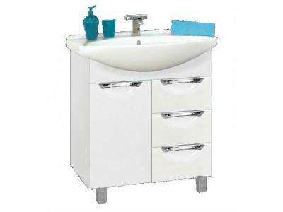 Мебель для ванной Misty Орхидея - 65 Тумба с 3 ящ. белая эмаль П-Орх01065-0113Я