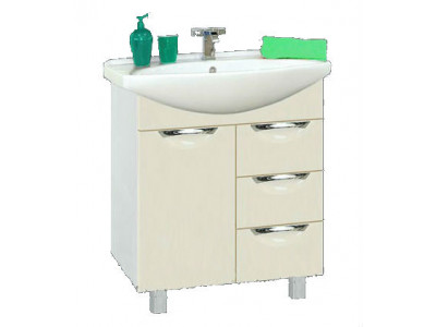 Мебель для ванной Misty Орхидея - 65 Тумба с 3 ящ. бежевая эмаль П-Орх01065-0313Я