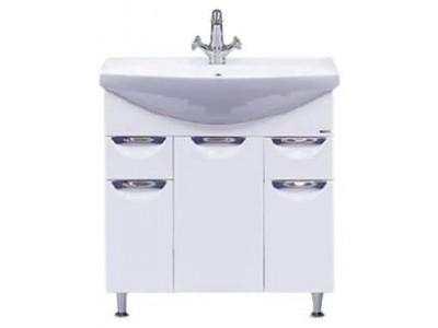 Мебель для ванной Misty Орхидея - 75 Тумба 2 ящ. (корзина) белая эмаль П-Орх01075-0112Я