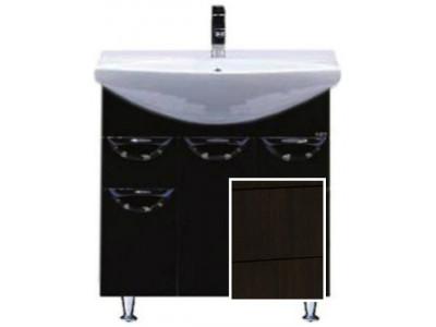 Мебель для ванной Misty Орхидея - 75 Тумба 2 ящ. (корзина) коричневая эмаль П-Орх01075-1412Я