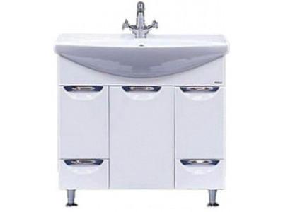 Мебель для ванной Misty Орхидея - 85 Тумба 2 ящ. белая эмаль П-Орх01085-0112Я