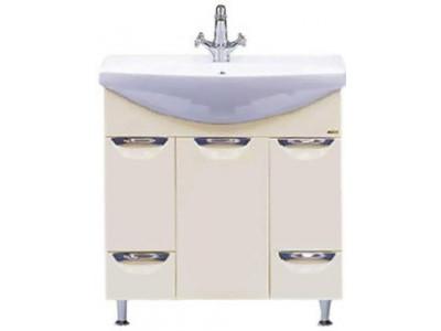 Мебель для ванной Misty Орхидея - 85 Тумба 2 ящ. бежевая эмаль П-Орх01085-0312Я