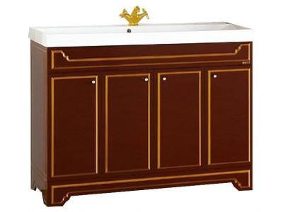 Мебель для ванной Misty Praga  -120 Тумба прямая бордо патина Л-Пра01120-103Пр