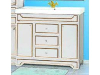 Мебель для ванной Misty Praga  - 90 Тумба с 3 ящ.белая патина Л-Пра01090-0133Я