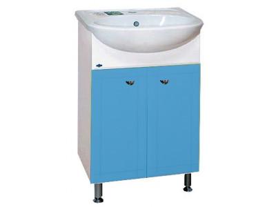 Мебель для ванной Misty Уют - 50 Тумба прямая   ГОЛУБАЯ Э-Уют01050-06Пр