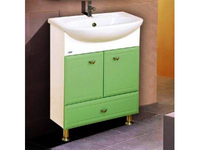 Мебель для ванной Misty Уют - 50 Тумба с нижн.ящ.   САЛАТОВАЯ Э-Уют01050-07Ня