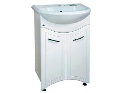 Мебель для ванной Misty Уют - 55 Тумба прямая  (бабочка) Э-Уют01055-01ПрБ