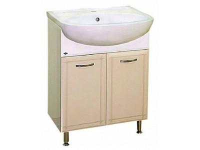 Мебель для ванной Misty Уют - 60 Тумба прямая   БЕЖЕВАЯ Э-Уют01060-03Пр