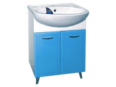 Мебель для ванной Misty Уют - 60 Тумба прямая   ГОЛУБАЯ Э-Уют01060-06Пр