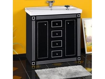 Мебель для ванной Misty Venezia 90 черная с серебром Л-Внц01090-5534Я