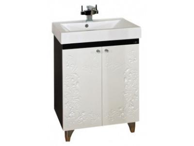 Мебель для ванной Misty Вирджиния (Бабочка) - 60 Тумба прямая белая факт. П-Вир01060-012Пр