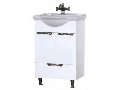 Мебель для ванной Misty Жасмин 55 белая П-Жас01055-012Ня
