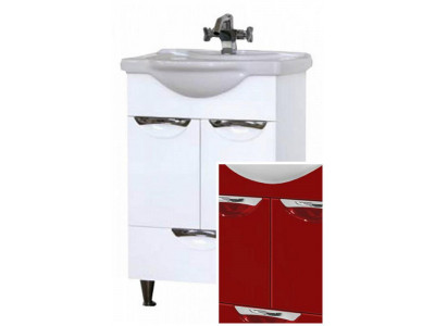Мебель для ванной Misty Жасмин 55 красная П-Жас01055-042Ня
