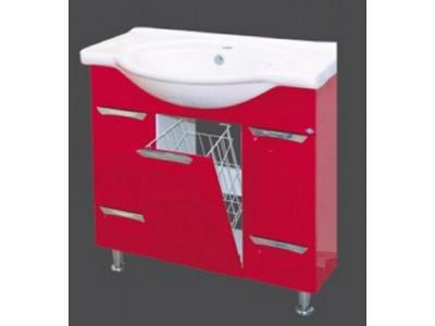 Мебель для ванной Misty Жасмин 85 красная П-Жас01086-042К2Я
