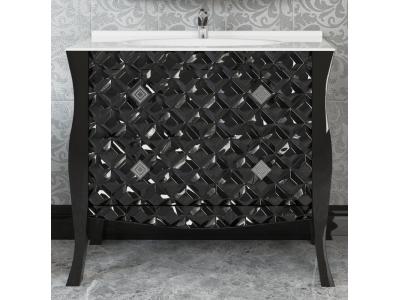 Мебель для ванной Misty CHARME - 100 Тумба черная  с 2 ящ. Л-Чар01100-0212Я