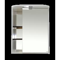 Зеркальный шкаф Misty Венера  - 60 Зеркало-шкаф прав. со светом комбинированное П-Внр04060-25СвП