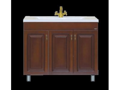 Мебель для ванной Misty Вояж -100 Тумба прямая коричневая П-Воя01100-141Пр