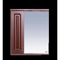 Зеркальный шкаф Misty Вояж - 60 Зеркало - шкаф лев.коричневый П-Воя02060-141Л