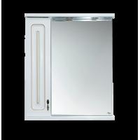 Зеркальный шкаф Misty Вояж - 60 Зеркало - шкаф лев. белая патина П-Воя02060-013Л