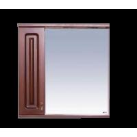 Misty Вояж - 70 Зеркало - шкаф лев.коричн П-Воя02070-141Л