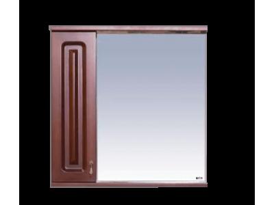Мебель для ванной Misty Вояж - 70 Зеркало - шкаф лев.коричн П-Воя02070-141Л