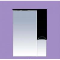 Зеркальный шкаф Misty Петра 65 R черный П-Пет04065-021СвП