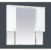 Misty Александра -105 зеркало-шкаф (свет) белый мет П-Але04105-352Св