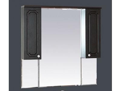 Мебель для ванной Misty Александра -105 зеркало-шкаф (свет) ВЕНГЕ П-Але04105-052Св