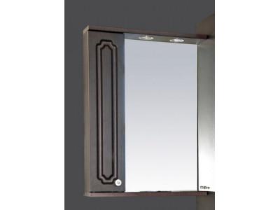 Мебель для ванной Misty Александра - 55 зеркало-шкаф лев. (свет) ВЕНГЕ П-Але04055-052СвЛ