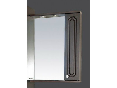 Мебель для ванной Misty Александра - 55 зеркало-шкаф прав. (свет) ВЕНГЕ П-Але04055-052СвП