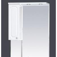 Misty Александра - 65 зеркало-шкаф лев.(свет) белый мет П-Але04065-352СвЛ