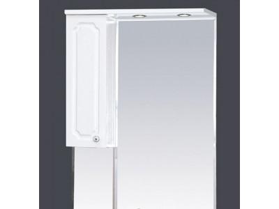 Мебель для ванной Misty Александра - 65 зеркало-шкаф лев.(свет) белый мет П-Але04065-352СвЛ
